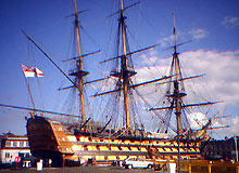 HMS Victory at Portsmouth Harbour
